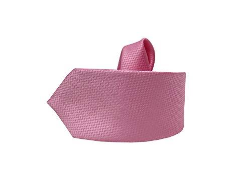 MMUGA Corbata delgada para hombre con pañuelo estampado rosa Talla única