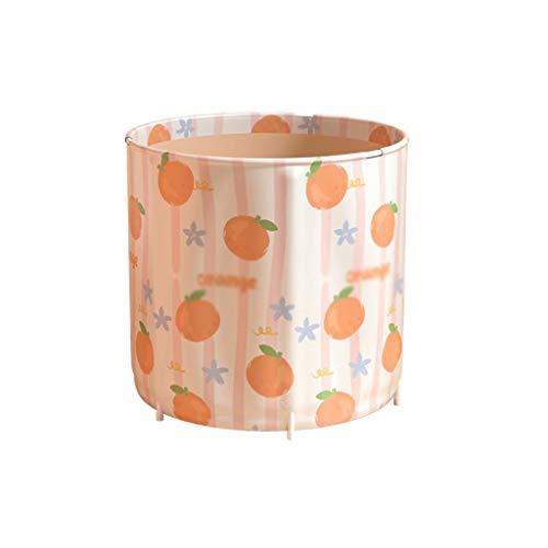 YLJJ Faltbare Badewanne für Erwachsene, Ganzkörper-Badewanne für den Haushalt, doppelte Verwendung zum Baden, Baden und Dämpfen, Yellow-5