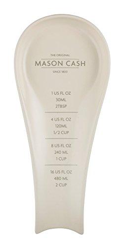Mason Cash 2008.19 Innovative Kitchen Stoneware Spoon Rest, 25cm, White 28499