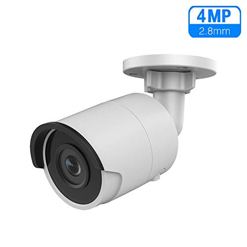 4MP 2K Ultra HD PoE Outdoor Bullet Network Camera, OEM DS-2CD2043G0-I 2.8mm Fixed Lens Security Camera with Micro SD Card Slot, 30m Night Vision, H.265+, IP67 Waterproof