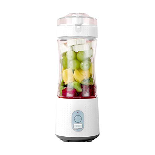 FEENGG Portable Blender, Mini Blenders for Smoothies and Shakes, Handheld Fruit Mixer Machine 13oz USB Rchargeable Juicer Cup, Ice Blender Mixer Home/Office/Outdoors,White