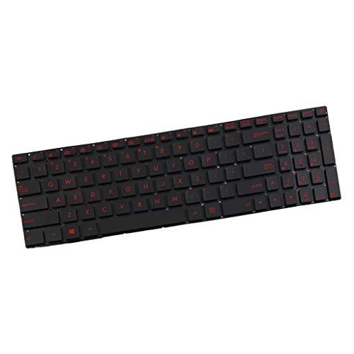 Zengkei Verkabelte Tastatur, Ersatz Tastatur Taste Tastenfeld Mit Beleuchtet, Kompatibel Mit Asus GL552V/GL552VL/GL552VW/GL552VX US Layout für Laptop Computer