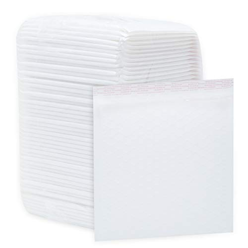 Exproud製 50枚入 A4用紙もラクラク 33x24.5+5cm クッション封筒 ワンタッチ貼付テープ付き 白 クリックポ...