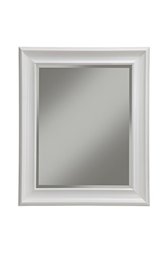 Sandberg Furniture White Wall Mirror, 36' x 30'