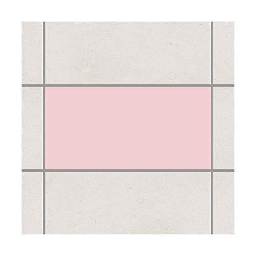 Adesivo per Piastrelle - Colore Rosa 30cm x 60 Centimetri
