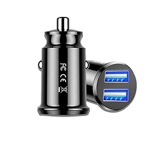Adaptador de coche para cargador de coche NC de 2 puertos Dual USB Cargador rápido de coche Adaptador de corriente de divisor de doble USB 12V Adaptador de carga rápida para coche