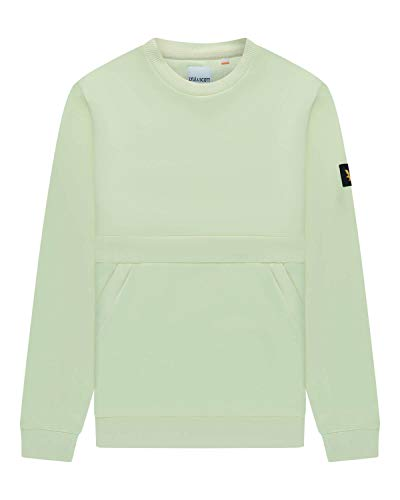 Lyle and Scott Casuals Sweatshirt mit Reißverschlusstasche Gr. XL, Lucid Green