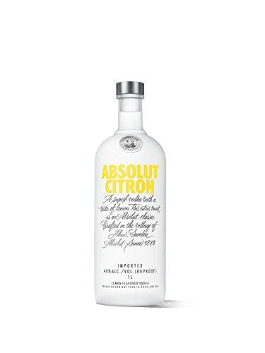 Absolut Citron – Absolut Vodka mit Zitronen Aroma – Absolute Reinheit und einzigartiger Geschmack in ikonischer Apothekerflasche – 1 x 1 L