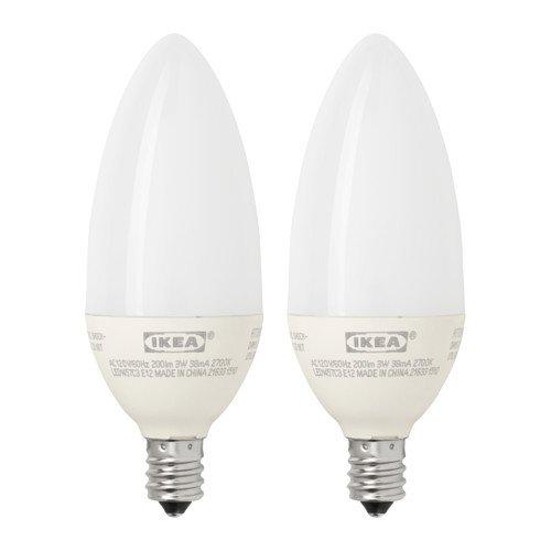 IKEA RYET bombilla LED E12200lúmenes, lámpara de araña Opal