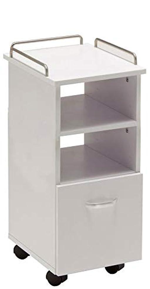もっと少なくシーケンスオフセットBASICネイルワゴン (トールサイズ) FV-5712-5 (ホワイト) ワゴン キャスター付き ワゴン 美容室 ラック