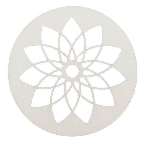 GLOREX 6 3822 202 Papierrondel für Traumfänger 6St, 12cm, weiss, weiß
