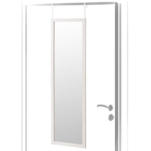 Espejo de Puerta Blanco nórdico de Madera de 35 x 125 cm - LOLAhome