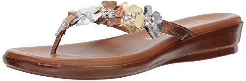 ITALIAN Shoemakers Women's Emina Sandal, Metallic/Multi, 6 M US