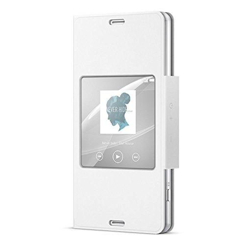 Sony SCR26 Custodia con Supporto e Finestra per Xperia Z3 Compact, Bianco