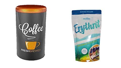 Kalorienfreier Zuckerersatz aus Erythrit + Aroma Kaffeedose 500gr. von James Premium
