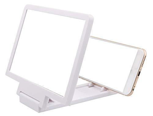LK-Home Loep, opvouwbaar 3D-scherm vergrootglas voor smartphones, draagbare anti-stralingsbeeldschermvergroting voor smartphones voor het bekijken van filmvideo's op alle smartphones