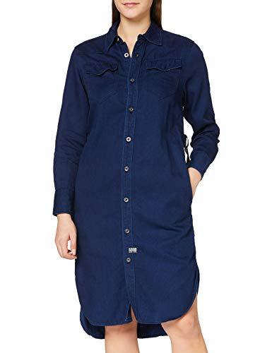 G-STAR RAW Damen Dress Tacoma Long Sleeve Shirt Straight, Rinsed A785-082, Large