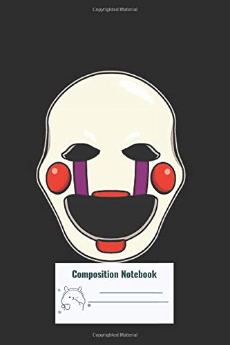 Composition Notebook: Five Nights At Freddys Fnaf 2 Puppet Composition Notebook, College ruled