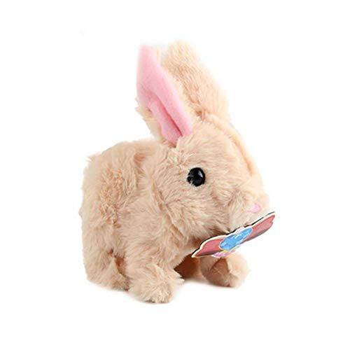 Tianxiu Plüschhase Batteriebetriebenes Hüpfen Kaninchen Interaktives Spielzeug Häschen Animiertes Plüsch Kuscheltier Spielzeug Gehen Kaninchen Für Kinder Junge Mädchen gently sturdy