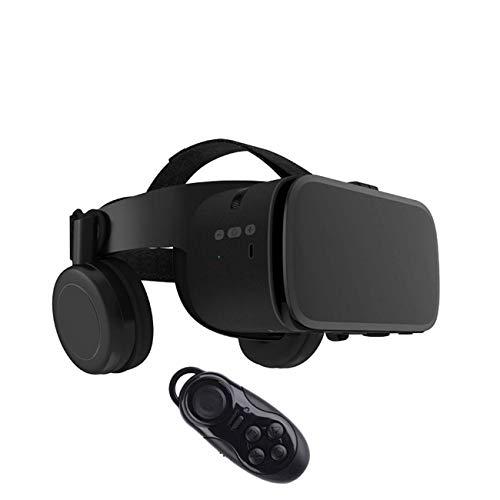 Kotaku BOBOVR Z6 Bluetooth Auricular inalámbrico Integrado Gafas 3D Casco de Realidad Virtual VR (032 Gamepad),Negro