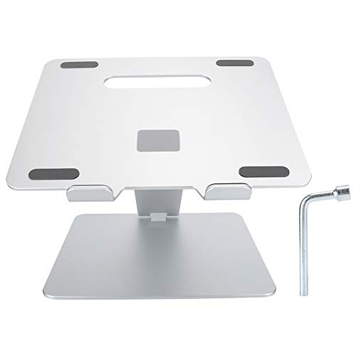AMONIDA 𝐂𝐡𝐫𝐢𝐬𝐭𝐦𝐚𝐬 𝐆𝐢𝐟𝐭 Folding Stable Durable Aluminum Alloy Laptop Elevating Stand Laptop Stand, Portable for Computer(Silver)