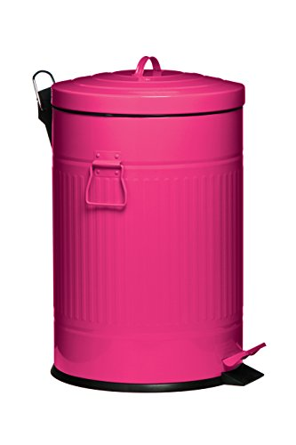 Premier Housewares Pedal Trash Can, 20 L - Cream