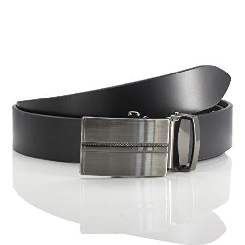 LINDENMANN Herren Ledergürtel/Herren Gürtel Automatik, Rindleder, schwarz, Größe/Size:120, Farbe/Color:schwarz