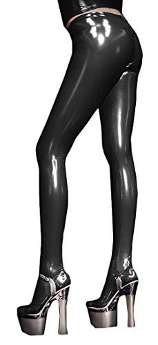 Harem Yoga Sexy Nachtclub Weiche Ledergamaschen Damen Hosen Mit Engen Füßen Schwarz-2XL