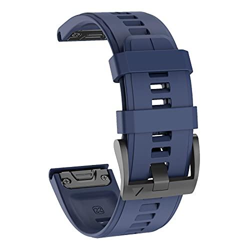 ISABAKE 22mm Cinturino Orologio in Morbido Silicone, Cinturino Sportivo di Ricambio Quickfit per Fenix 5/Fenix 5 Plus/Fenix 6/Fenix 6 Pro/Forerunner 935/Approach S60/Quatix 5 Smartwatch Band