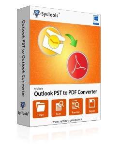 SysTools Outlook PST à PDF Convertisseur (Livraison par courrier électronique - pas de CD)