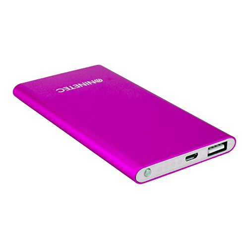 NINETEC NT-605 4.500mAh Ultra dünne PowerBank Externer Zusatz-Akku-Pack Ladegerät Pink