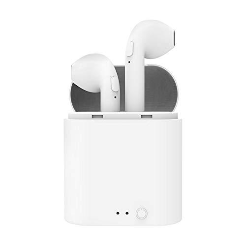 Draadloze Bluetooth-headset, draagbare sport-headset, enkele en binaurale vrije schakelaar, stereo met oplaadcompartiment, 10 meter aansluitbereik
