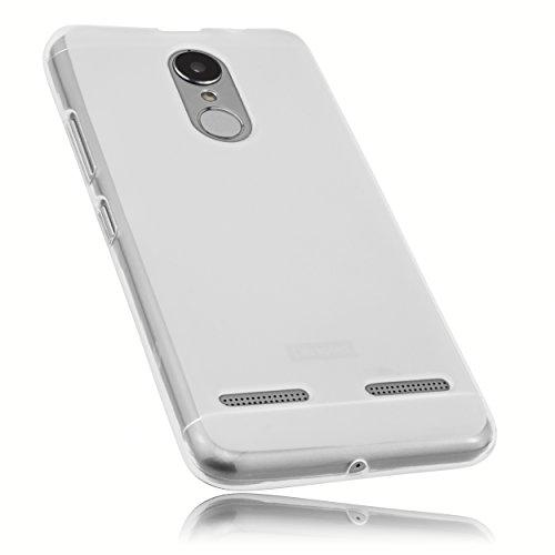 mumbi Hülle kompatibel mit Lenovo K6 Handy Hülle Handyhülle, transparent weiss