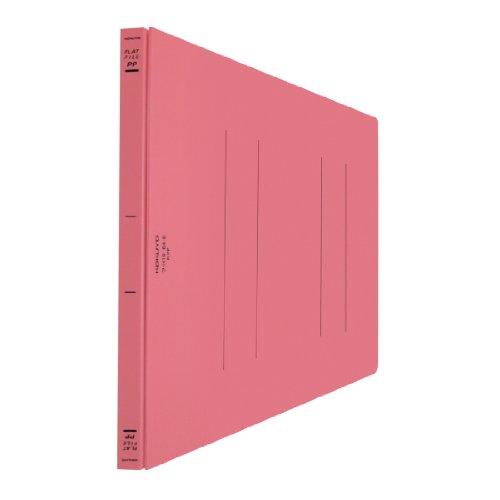 コクヨ フラットファイル PP表紙 樹脂製とじ具 2穴 B4横 150枚収容 ピンク フ-H19P