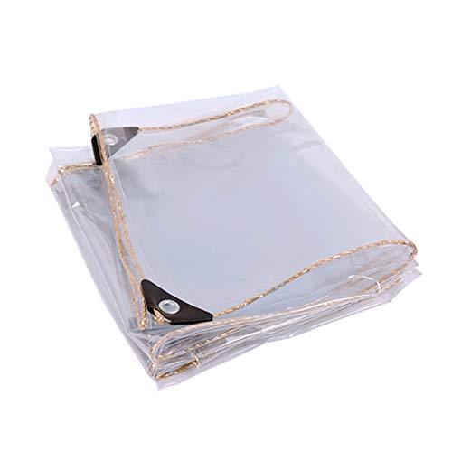 rff La Cubierta Vegetal Transparente PVC Lona de plástico Lona-Impermeable con Perforaciones, a Prueba de Lluvia for la Cubierta de la Flor y el balcón Planta, 450 g/m² (Size : 1 * 2m)