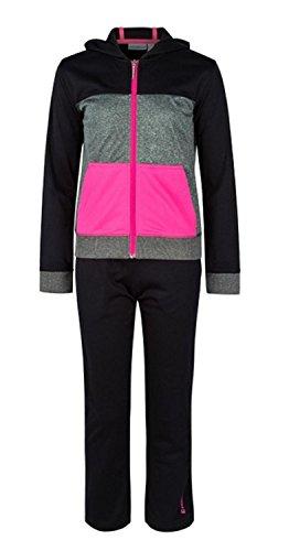 ENERGETICS dames fitness trainingspak BIU III + Biella III zwart grijs roze