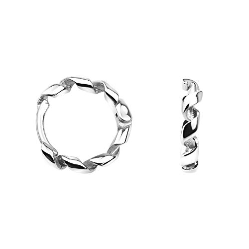 SOFIA MILANI Damen Ohrringe Creolen Klein Dünn Geschwungen Silber 20725