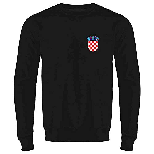 Croatia Soccer Retro National Team Sport Football Black 2XL Crewneck Sweatshirt for Men