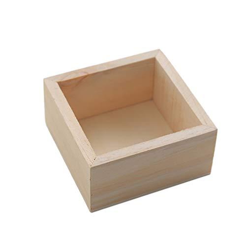 STOBOK Organisateur de Bureau en Bois Mini Bacs Boîte en Bois Artisanat pour Les Objets de Collection Maison Décor Succulentes