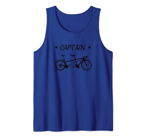Bicicleta tándem Capitán Bicicleta para dos personas Camiseta sin Mangas