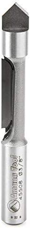 "popular Amana Tool - discount 45508 Carbide Tipped Panel Pilot wholesale Concave Grind 3/8 Dia x 1"" x 3/8 Shank S outlet sale"