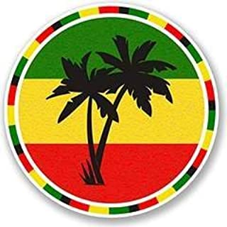Keen Jamaica Rasta Palm Tree Vinyl Decals Stickers (Two Pack!!!)|Cars Trucks Vans Walls Laptops|Printed Color|2-4 in Decals|KCD563
