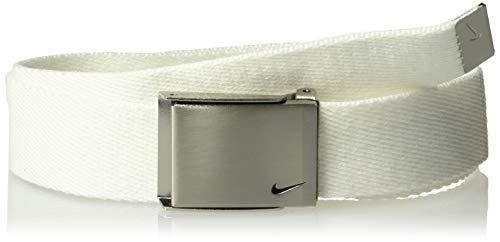Nike Boys' Big Single Web Belt, white, One Size
