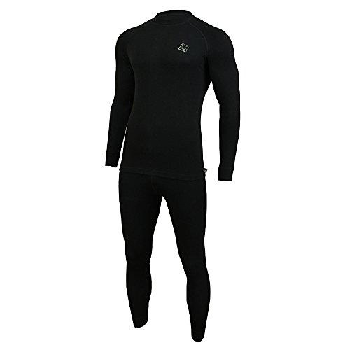 ROUGH RADICAL warme Damen Herren Funktionsunterwäsche Set Ski Thermounterwäsche Black Iron (L, schwarz)