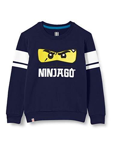 LEGO Wear Mwc - Sweatshirt Ninjago Sudadera, 590 Azul Marino, 116 Niños