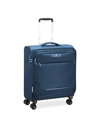 Roncato Joy Maleta Cabina avión Azul, Medida: 56 x 45 x 25 cm, Capacidad: 54 l, Pesas: 2.10 kg