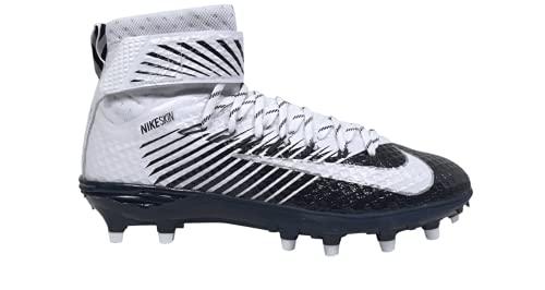 Nike Lunarbeast Elite TD 847641-114 White-Navy Blue Men's Football Cleats 10 US