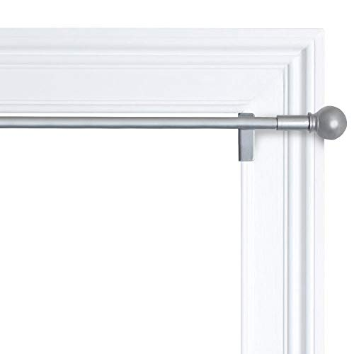 Smart Smart Rods Twist & Shout Window Curtain Tension Rod, 48 -in- 84 -in, Brushed Nickel