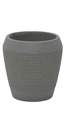 Tramontina Maceta Egipcio de plástico, Color Gris, diámetro 37,5 x Altura 39 cm, Volumen 21 litros