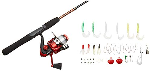 Ugly Stik Complete Spinning Reel and Fishing Rod Kit, Red, 5' - Light - 2pc, UGLYMULTISPCOMPKIT